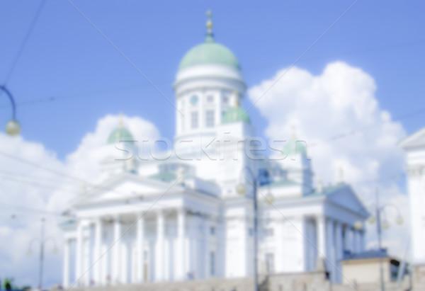 Katedral Helsinki Finlandiya bulanık gönderemezsiniz üretim Stok fotoğraf © marco_rubino