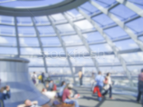 Defocused Background with the Glass Dome of the German Parliamen Stock photo © marco_rubino