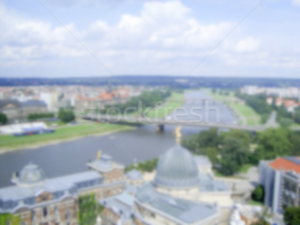 Defocused background of Dresden. Intentionally blurred post prod Stock photo © marco_rubino