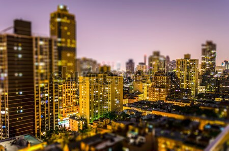 Aerial View at Night, New York City Stock photo © marco_rubino