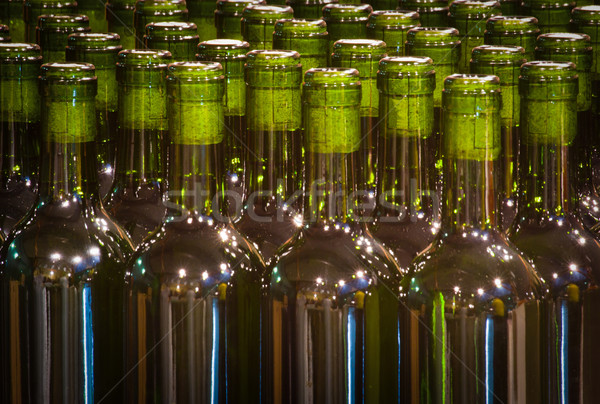 green glass bottles with cork Stock photo © Marcogovel