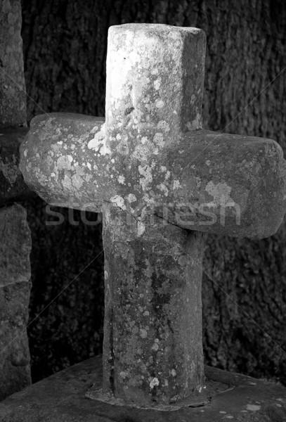 stone cross Stock photo © Marcogovel