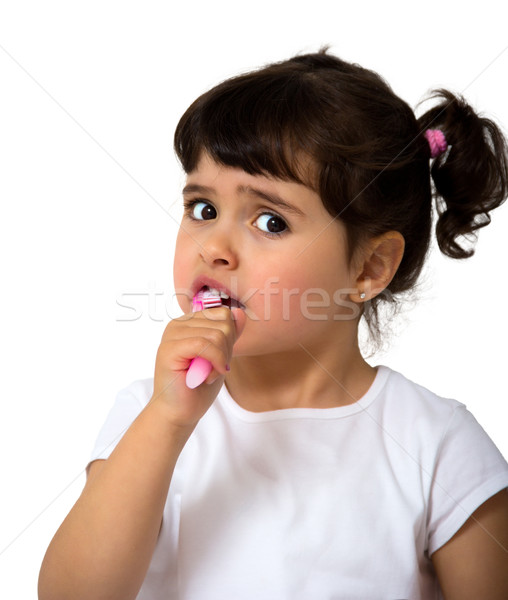 little girl portrait Stock photo © Marcogovel