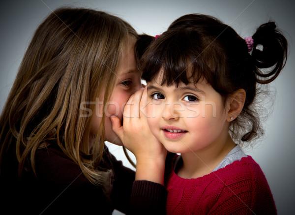 little girls portrait Stock photo © Marcogovel