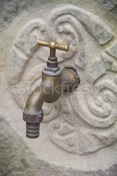 Dokunun taş duvar Bina duvar dünya içmek Stok fotoğraf © Marcogovel
