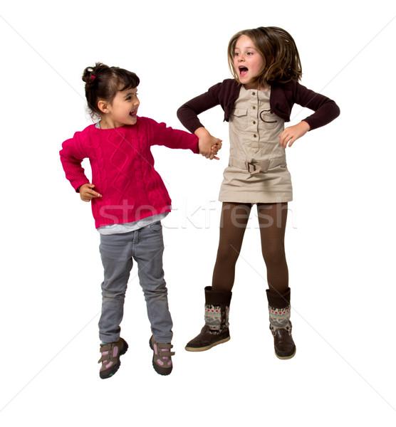 kids jumping Stock photo © Marcogovel