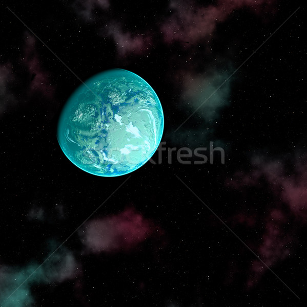 Planeet Blauw ruimte abstract maan star Stockfoto © Marcogovel