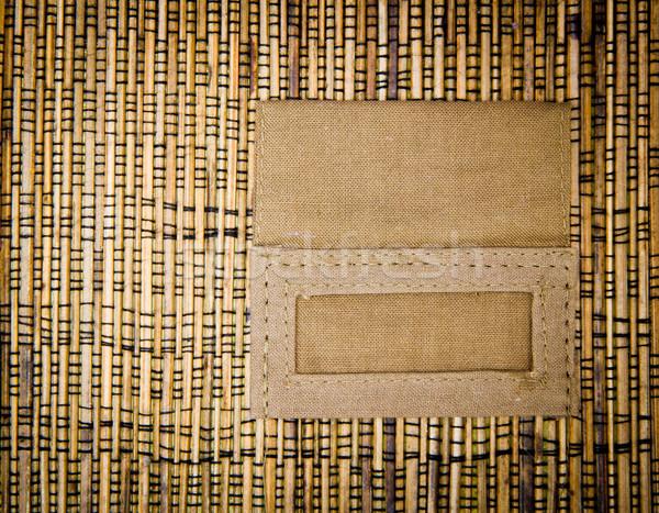 Bambou texture texte boîte résumé nature Photo stock © Marcogovel