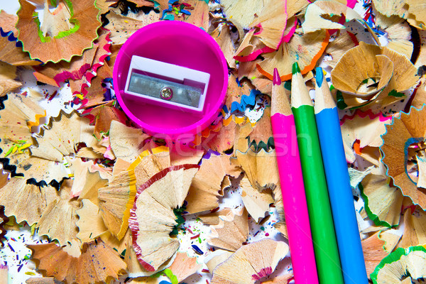 Stock photo: Pencil sharpener waste