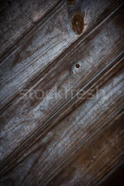 Old wooden door Stock photo © Marcogovel