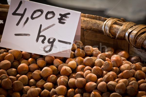 hazelnuts basket Stock photo © Marcogovel