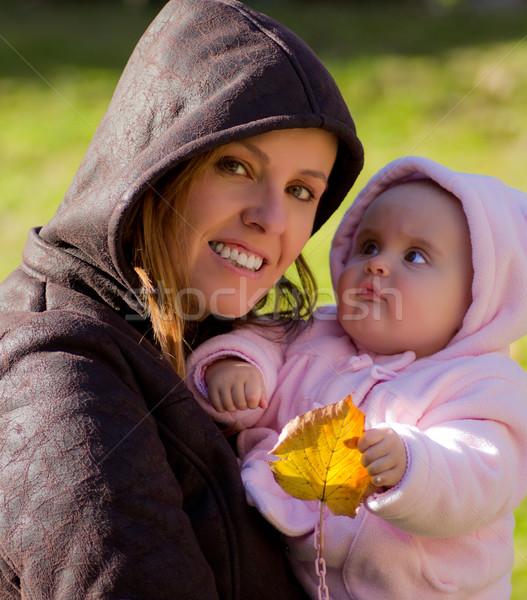 Mère fille portrait femme enfant amusement Photo stock © Marcogovel