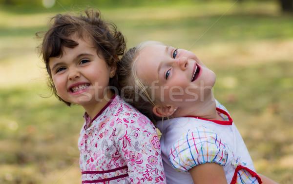 Kid portrait heureux fille visage enfants Photo stock © Marcogovel