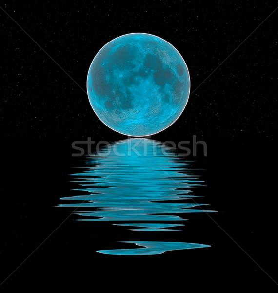 blue moon reflection Stock photo © Marcogovel