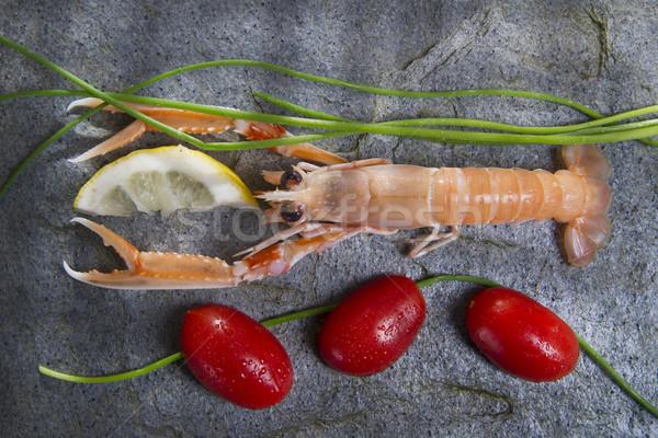 Friss Seattle tengeri termék bemutató előkészítés Stock fotó © marcoguidiph