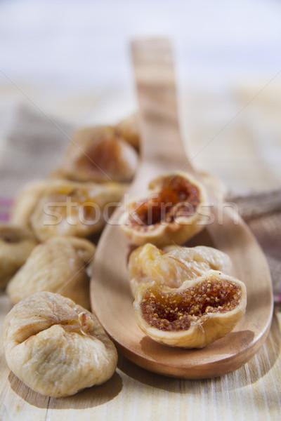 Szezonális gyümölcs aszalt folyamat megőrzés étel Stock fotó © marcoguidiph