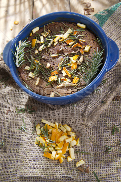 栗 小麦粉 ケーキ オレンジ ローズマリー 典型的な ストックフォト © marcoguidiph