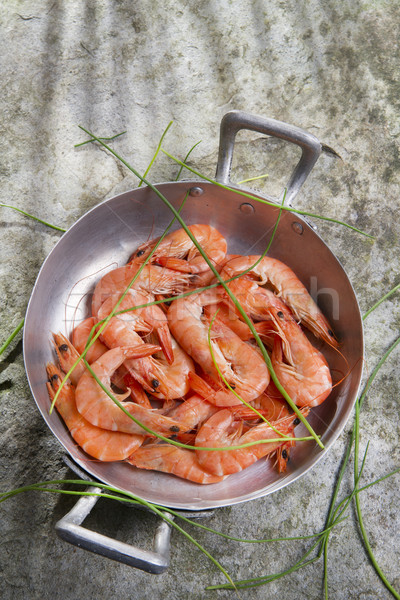 Tanıtım karides hazırlık yemek karides Stok fotoğraf © marcoguidiph