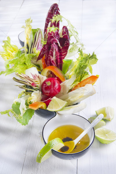 Vinaigrette with mixed vegetables Stock photo © marcoguidiph