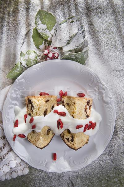 Tipik tatlı küçük kek kahvaltı Stok fotoğraf © marcoguidiph