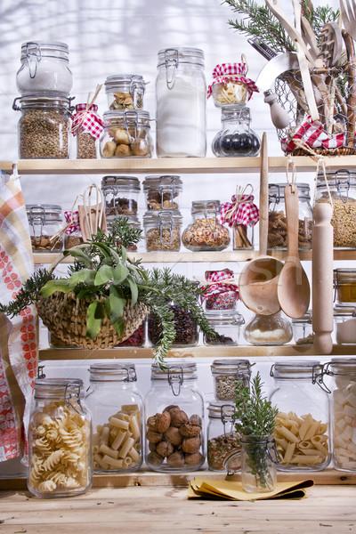 Küçük kiler ev kadını gerekli gıda mutfak Stok fotoğraf © marcoguidiph