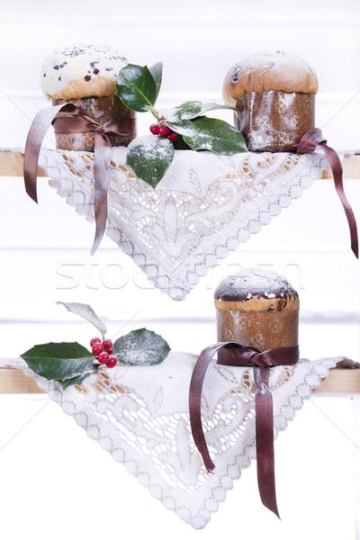 甘い クリスマス ケーキ 典型的な 北方 イタリア ストックフォト © marcoguidiph