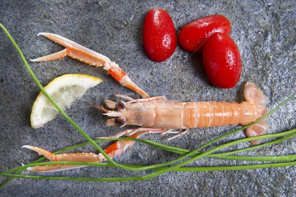 Fresh Shrimp Stock photo © marcoguidiph