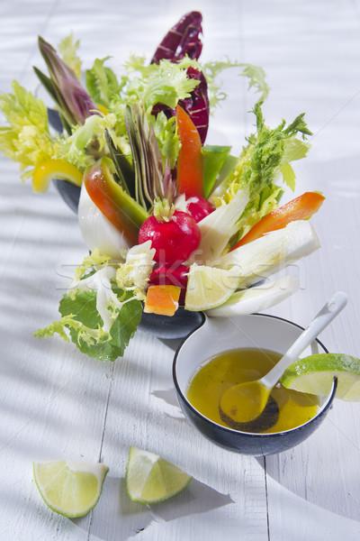смешанный овощей сезонный зеленый нефть Сток-фото © marcoguidiph