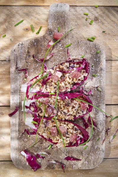 łodzi brązowy ryżu czerwony prezentacji boczek Zdjęcia stock © marcoguidiph