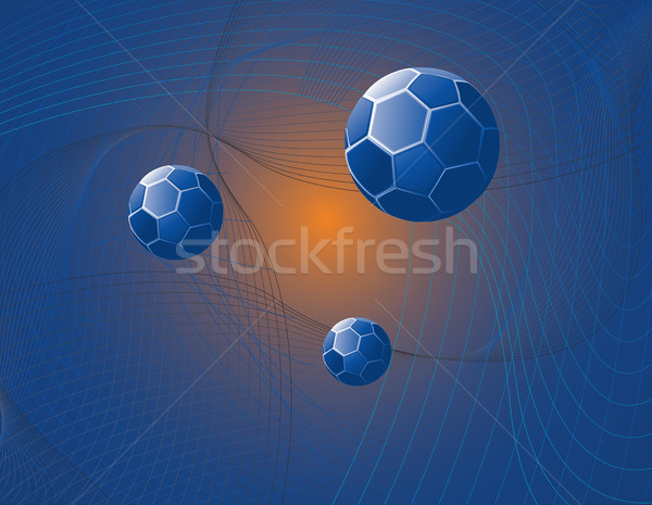 Blue Sphere Abstract Stock photo © marcopolo9442
