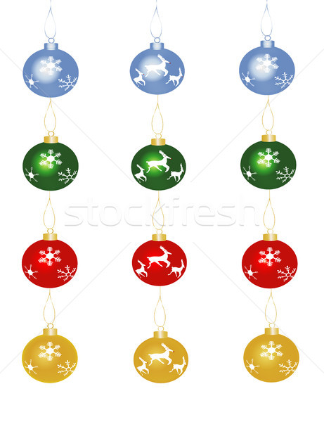 Christmas Baubles Stock photo © marcopolo9442