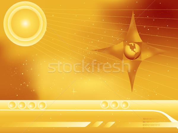 Przestrzeń kosmiczna streszczenie scifi ziemi gwiazdki Zdjęcia stock © marcopolo9442