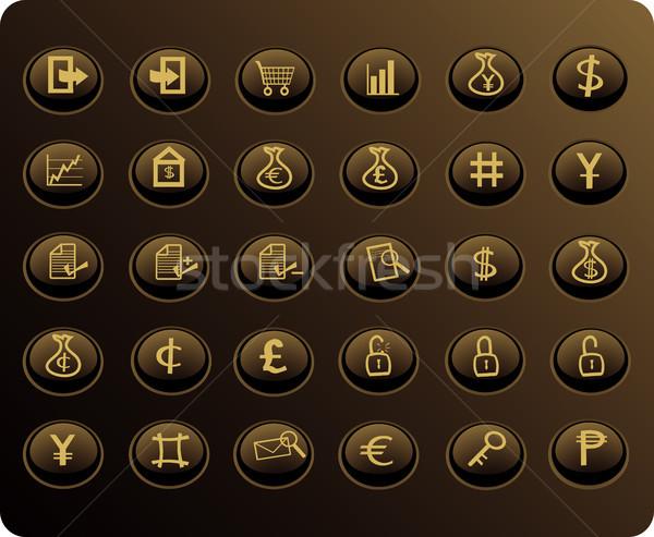business and finance web buttons Stock photo © marcopolo9442