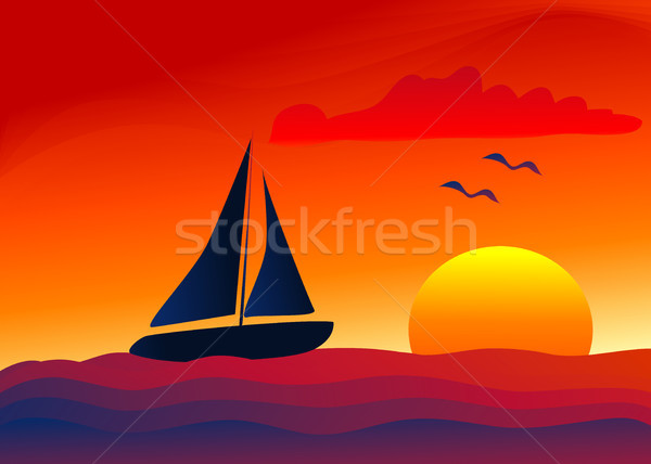 Sailing into the Sunset Stock photo © marcopolo9442
