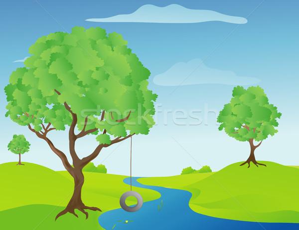 Tree Swing Stock photo © marcopolo9442
