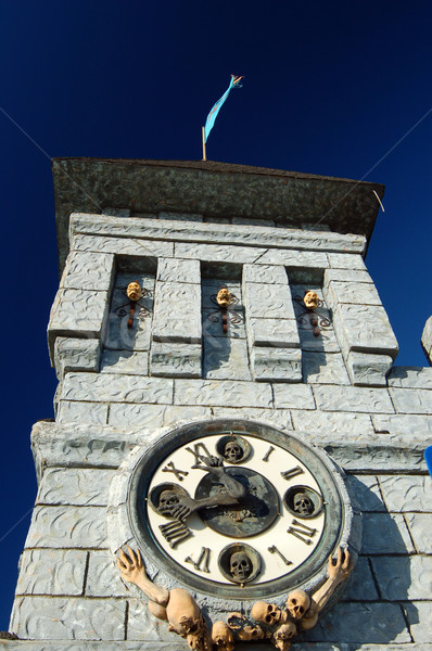 clock on a haunted castle Stock photo © marcopolo9442