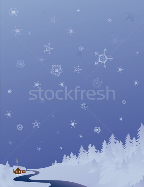 cold winter background Stock photo © marcopolo9442