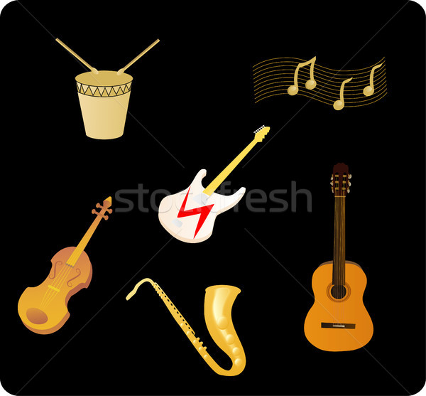 Various Musical Instruments Stock photo © marcopolo9442