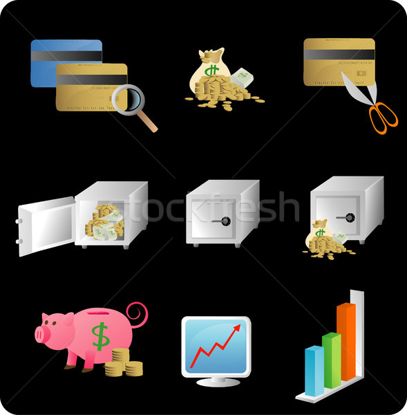 Financial objects/icons Stock photo © marcopolo9442