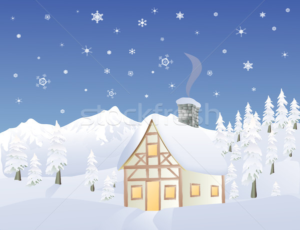 Alpine cabin in Winter Stock photo © marcopolo9442