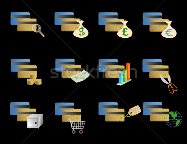 Various credit card icons Stock photo © marcopolo9442