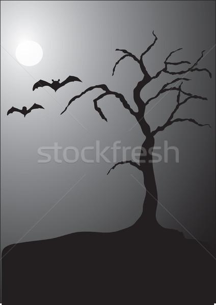 Halloween Night Scene Stock photo © marcopolo9442