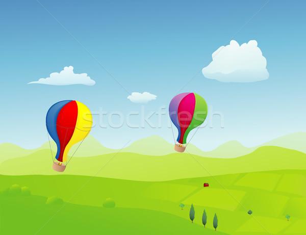 Stok fotoğraf: çift · eski · moda · stil · uçan · yüksek · bahar