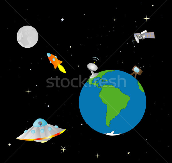 Stock photo: Earth and Space