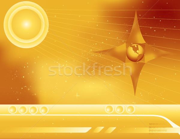 Espacio exterior resumen dorado panel de control sol espacio Foto stock © marcopolo9442