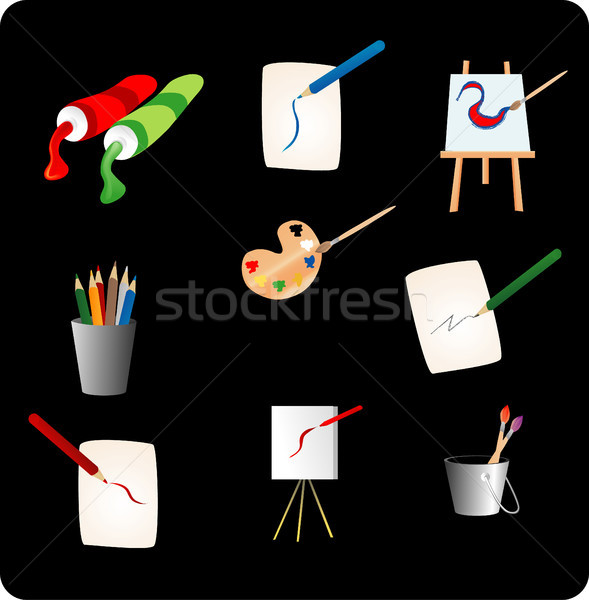 Art Stationery Objects Stock photo © marcopolo9442