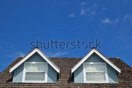 屋上 青 空 フレーム ストックフォト © marcopolo9442