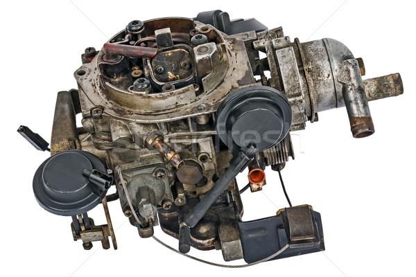 Używany paliwa zaopatrywać benzyny silnika samochodu Zdjęcia stock © marekusz