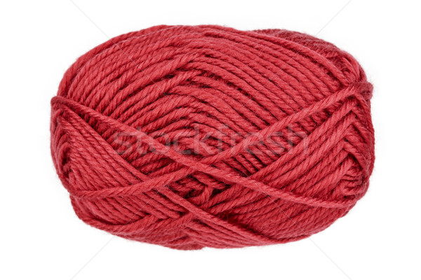 Ball of woolen thread on a white background Stock photo © marekusz