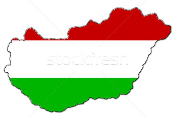 Stylized contour map of Hungary Stock photo © marekusz